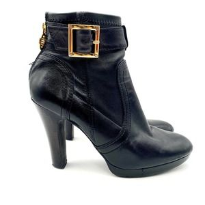 Tory Burch Black Leather Melrose Booties